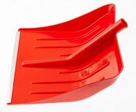 Лопата для уборки снега пластиковая, красная, 400 х 420 мм, без черенка, Россия